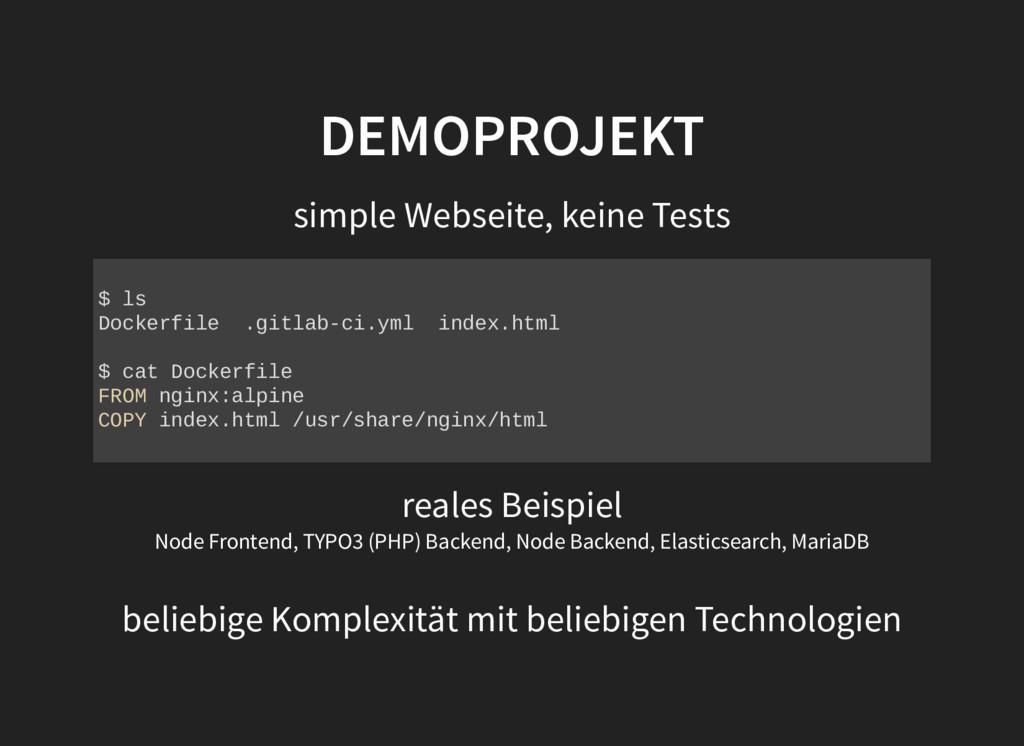 DEMOPROJEKT DEMOPROJEKT simple Webseite, keine ...