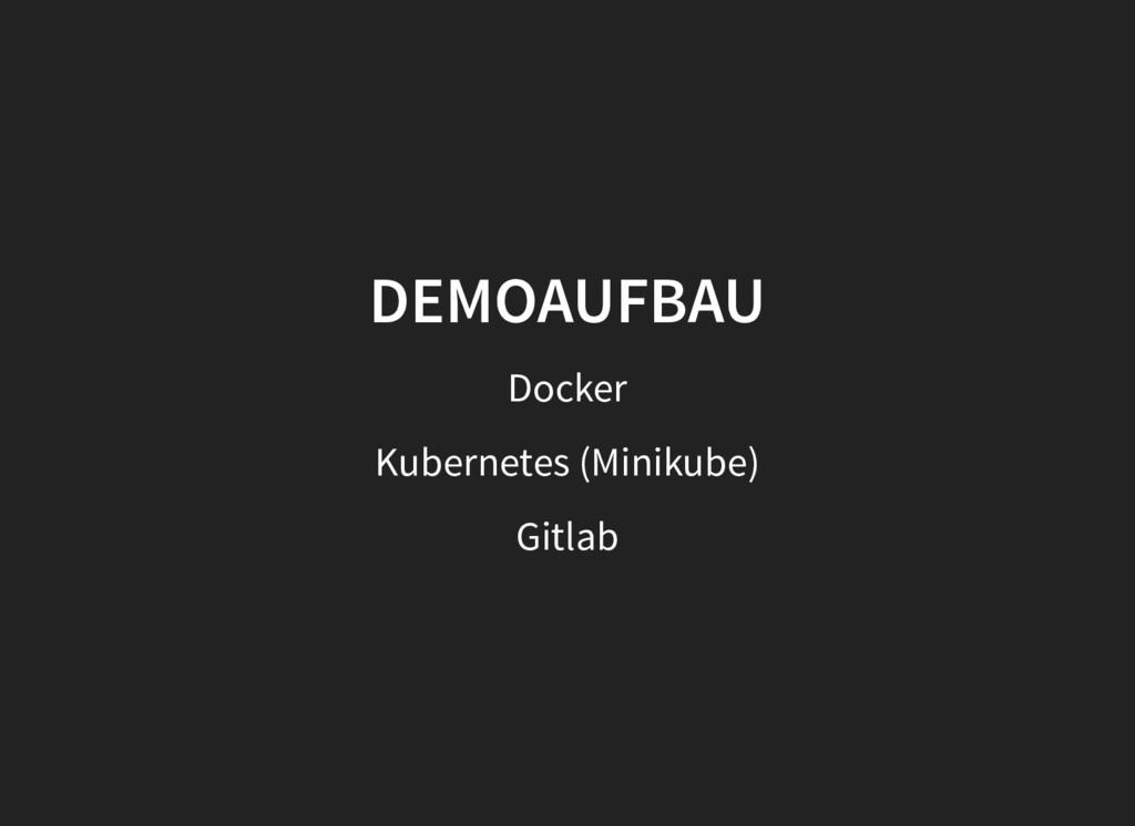 DEMOAUFBAU DEMOAUFBAU Docker Kubernetes (Miniku...