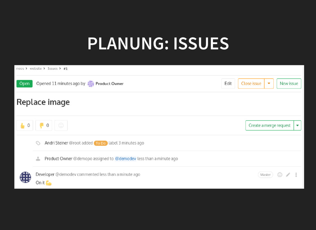 PLANUNG: ISSUES PLANUNG: ISSUES