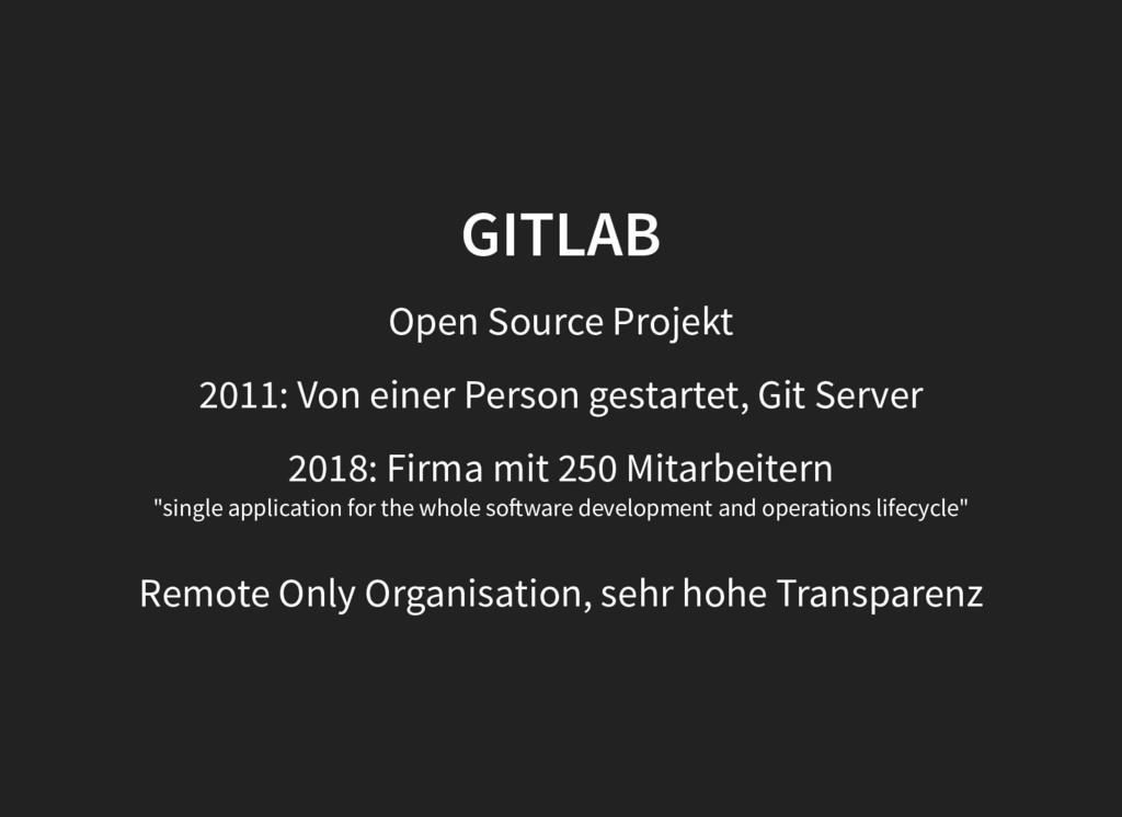 GITLAB GITLAB Open Source Projekt 2011: Von ein...