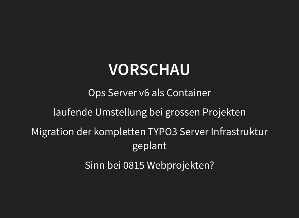 VORSCHAU VORSCHAU Ops Server v6 als Container l...