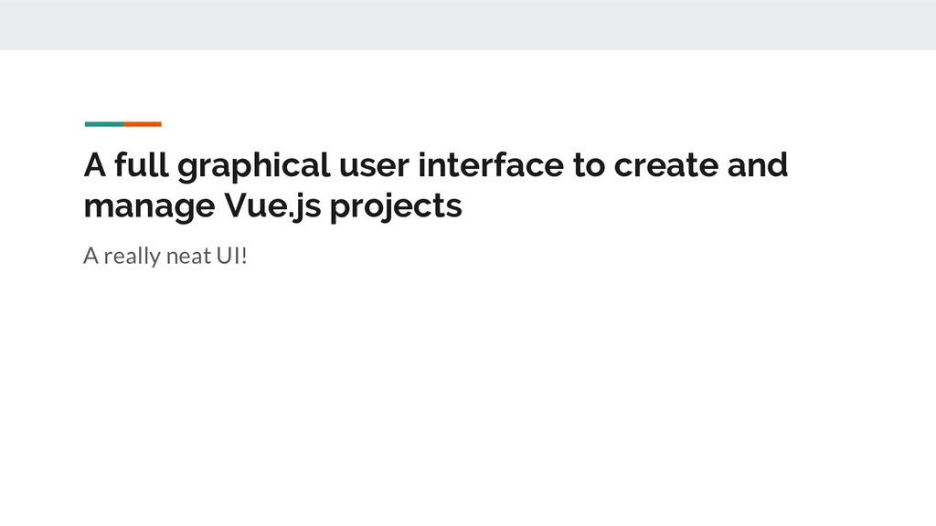 A full graphical user interface to create and m...