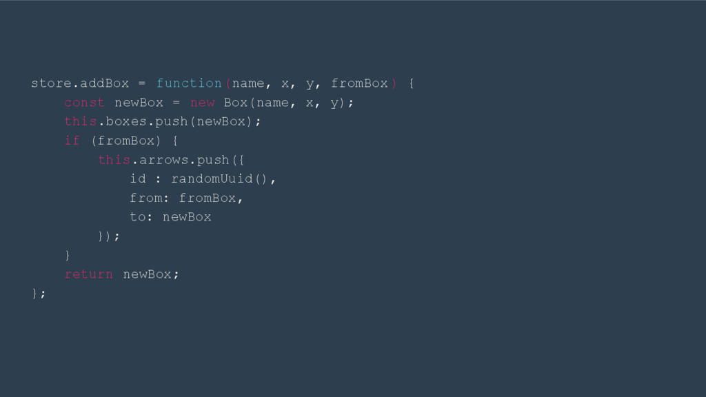 store.addBox = function(name, x, y, fromBox ) {...