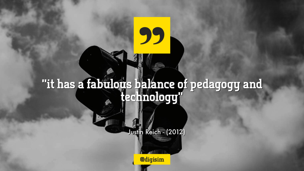 "Justin Reich - (2012) ""it has a fabulous balanc..."