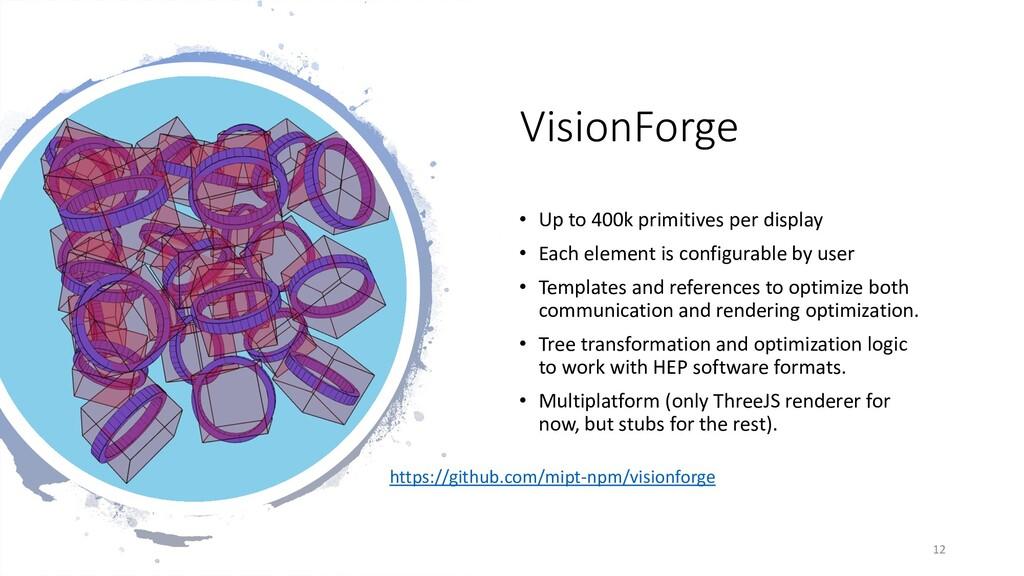 VisionForge • Up to 400k primitives per display...
