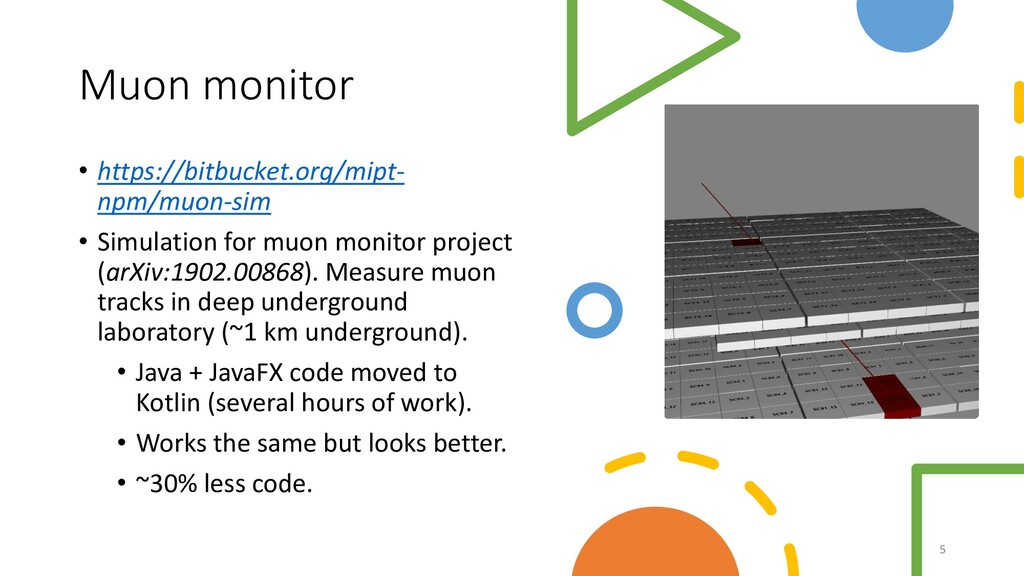 Muon monitor • https://bitbucket.org/mipt- npm/...