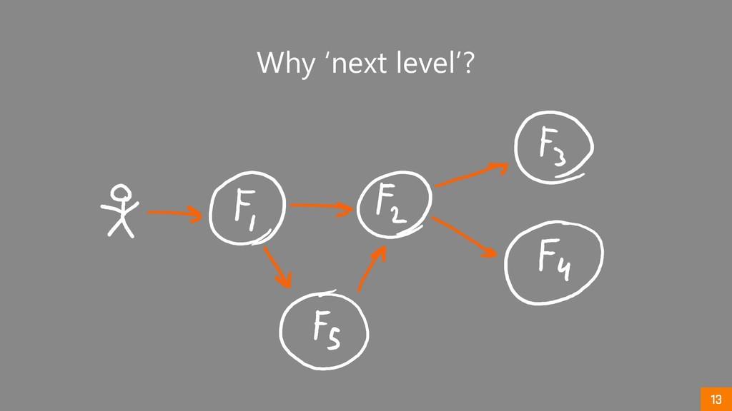 Why 'next level'?