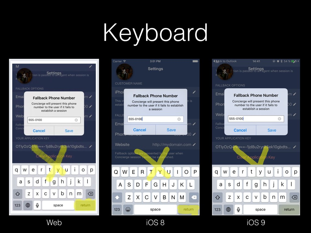 Keyboard Web iOS 9 iOS 8