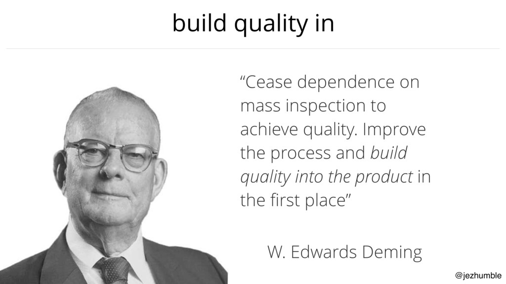 """@jezhumble build quality in """"Cease dependence o..."""