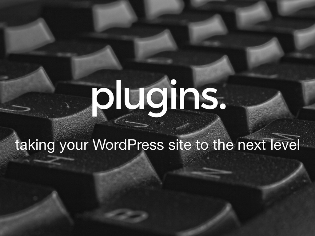 plugins. taking your WordPress site to the next...