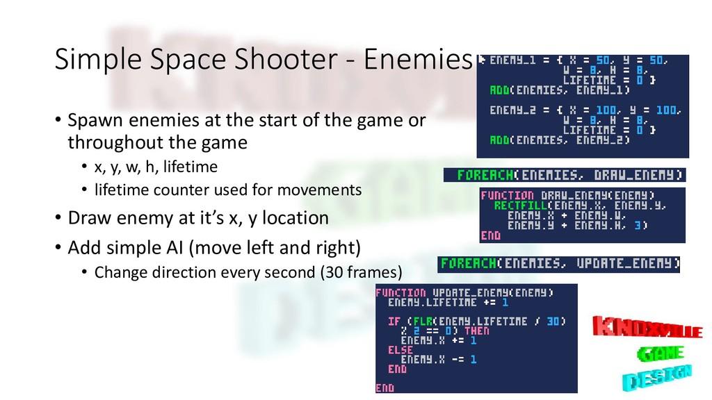 Simple Space Shooter - Enemies • Spawn enemies ...