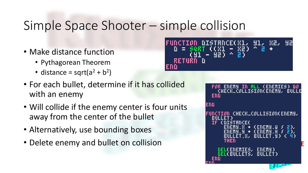 Simple Space Shooter – simple collision • Make ...
