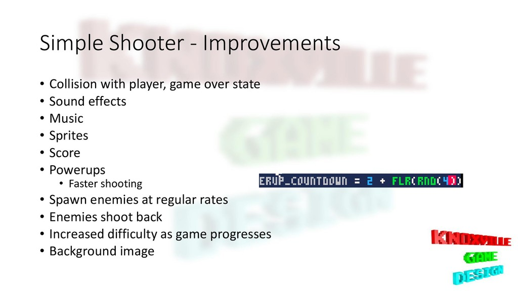 Simple Shooter - Improvements • Collision with ...