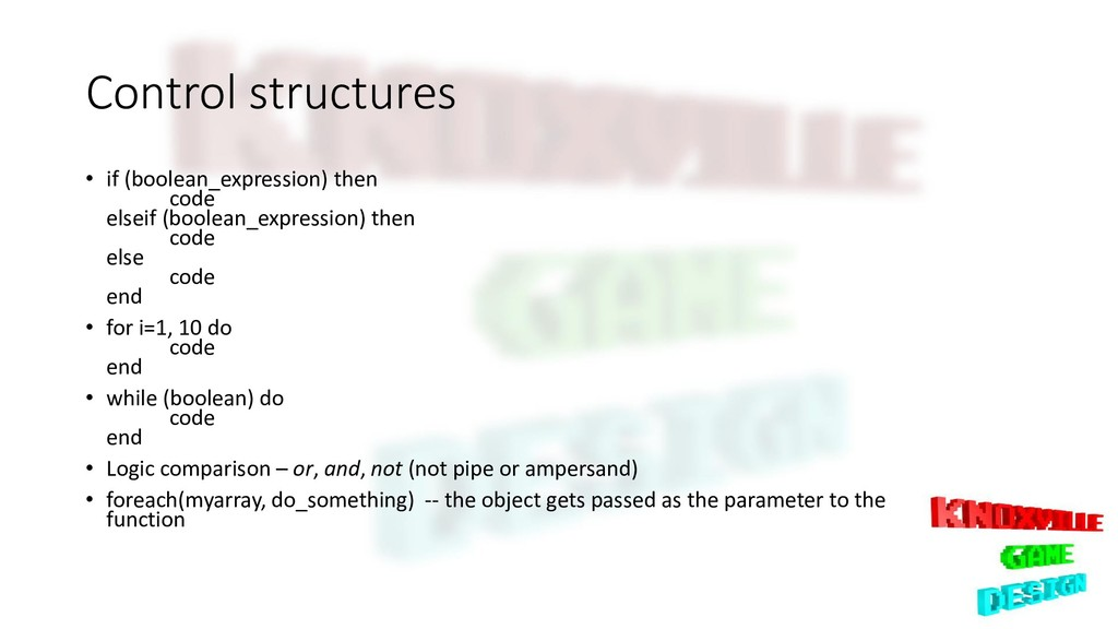 Control structures • if (boolean_expression) th...
