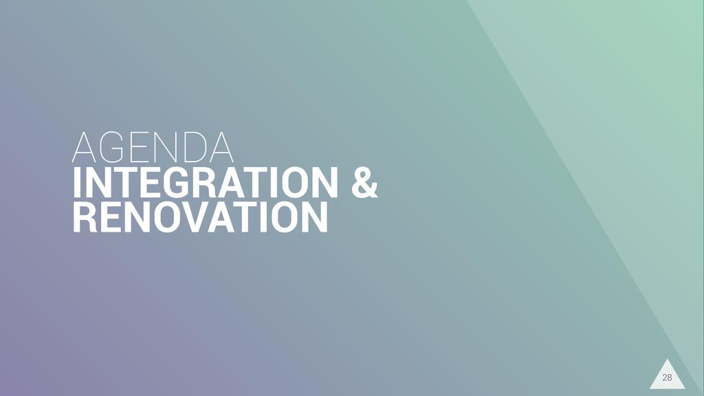 AGENDA INTEGRATION & RENOVATION 28
