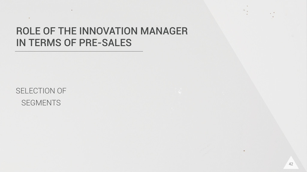 42 ROLE OF THE INNOVATION MANAGER IN TERMS OF P...