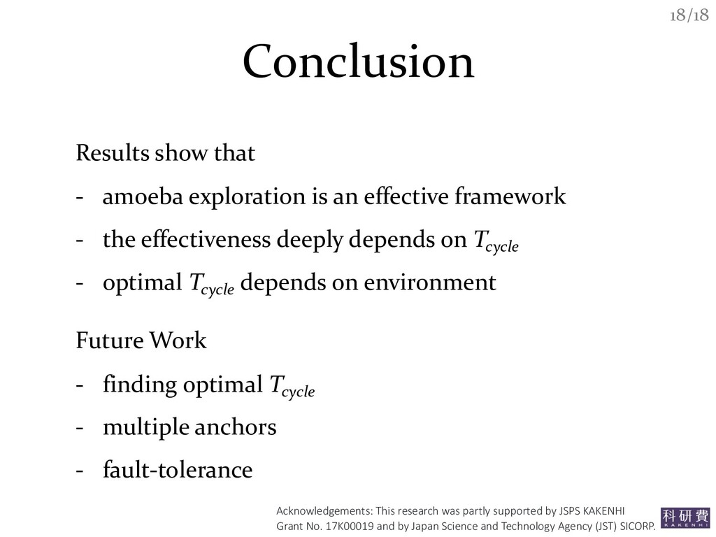 /18 18 Conclusion Results show that - amoeba ex...
