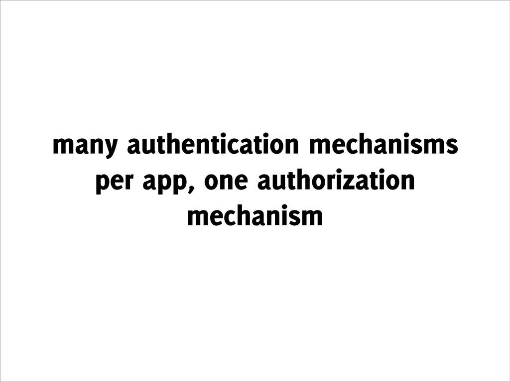 many authentication mechanisms per app, one aut...