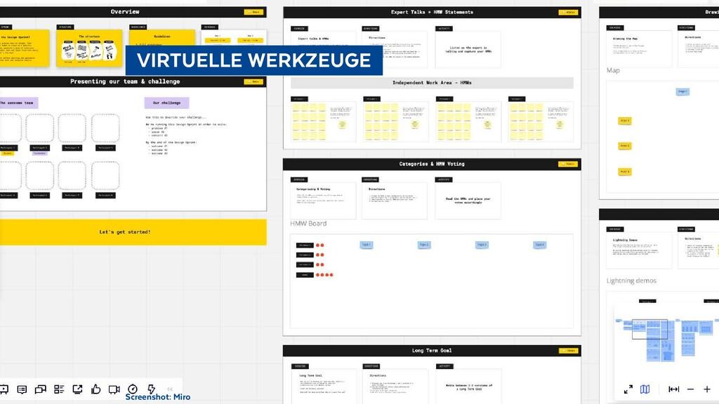 Screenshot: Miro  VIRTUELLE WERKZEUGE