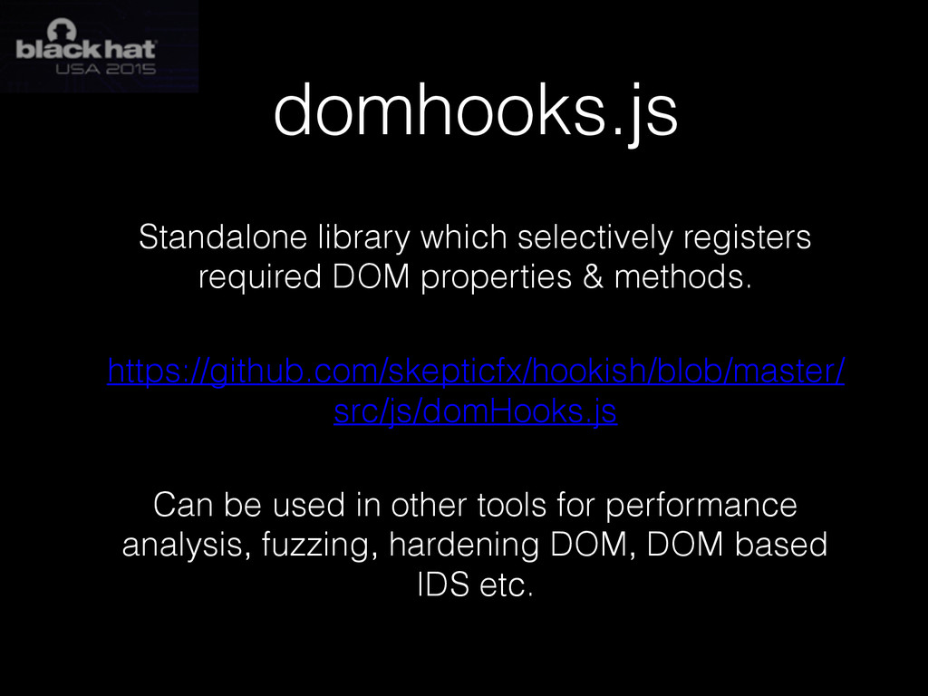domhooks.js Standalone library which selectivel...