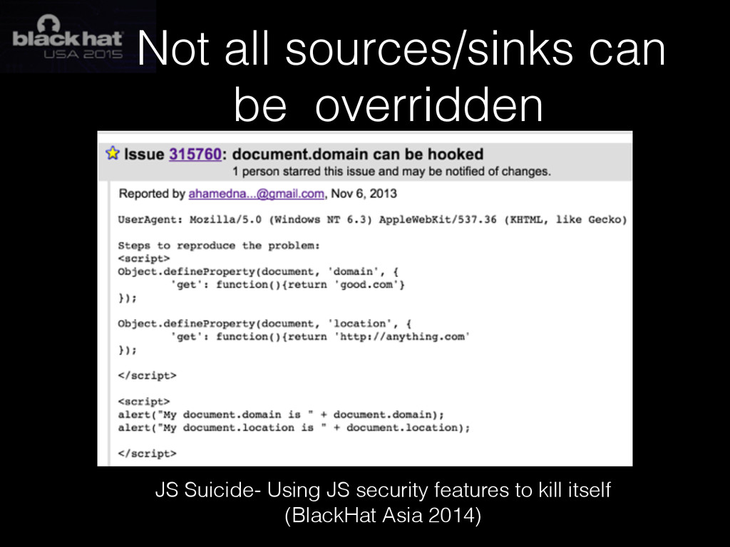 Not all sources/sinks can be overridden JS Suic...