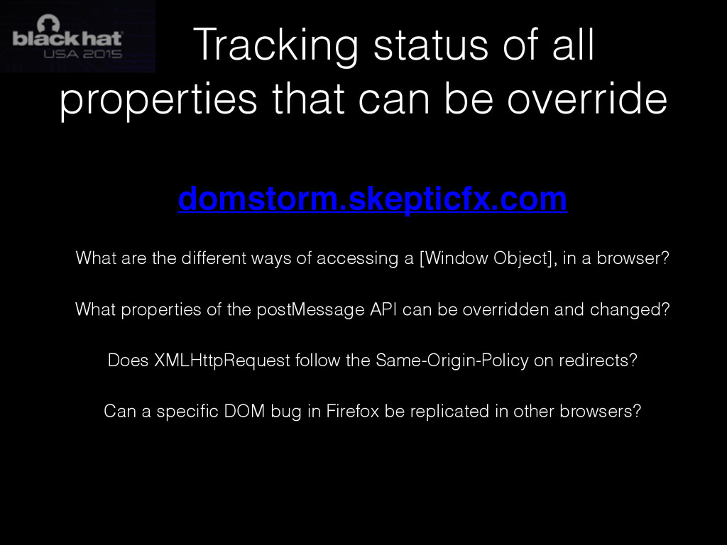 Tracking status of all properties that can be o...