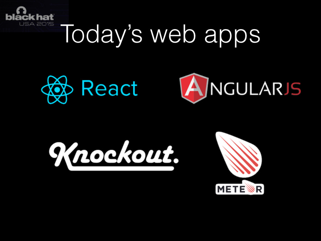 Today's web apps