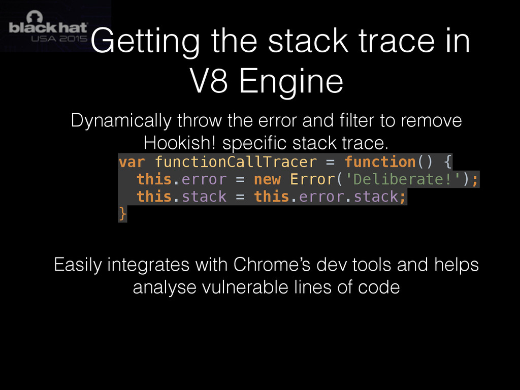 Getting the stack trace in V8 Engine Dynamicall...