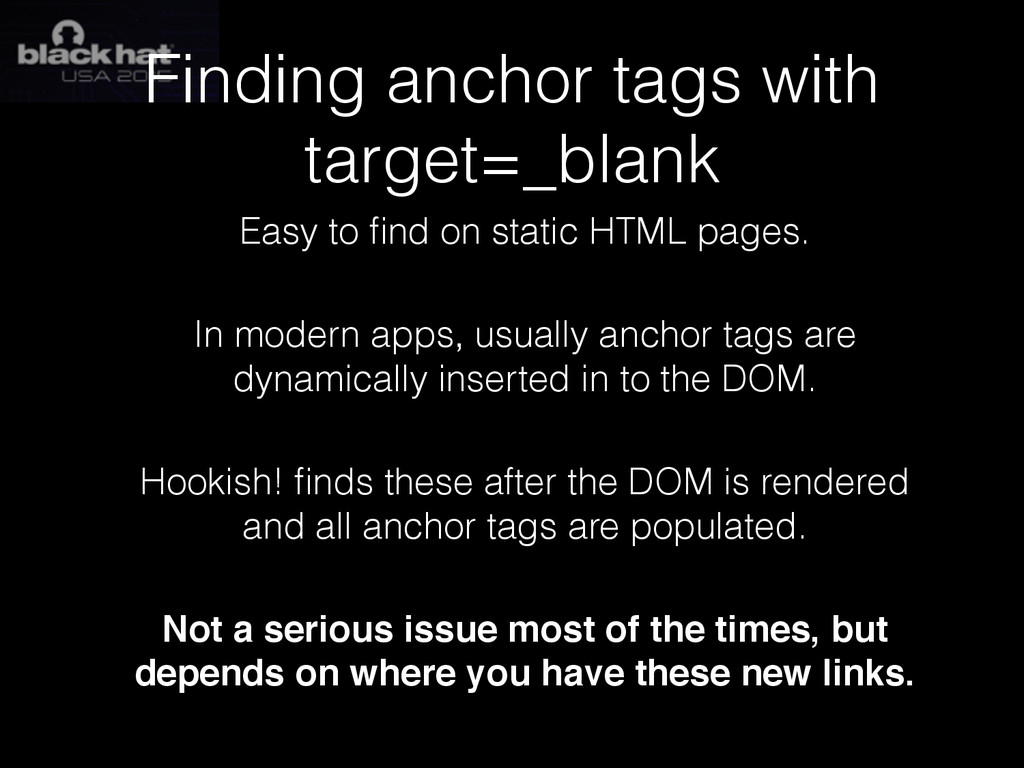 Finding anchor tags with target=_blank Easy to ...