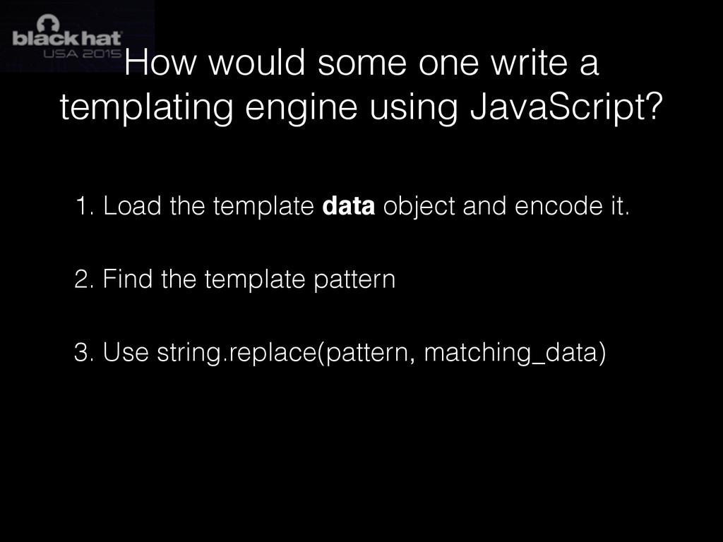 How would some one write a templating engine us...