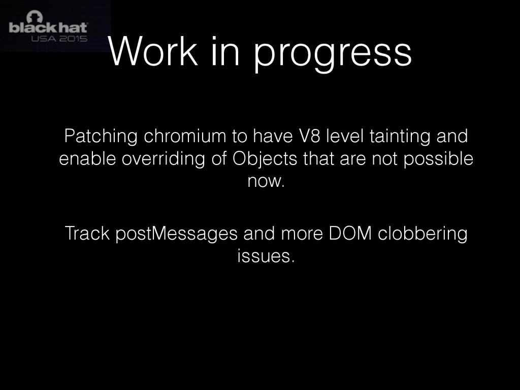 Work in progress Patching chromium to have V8 l...