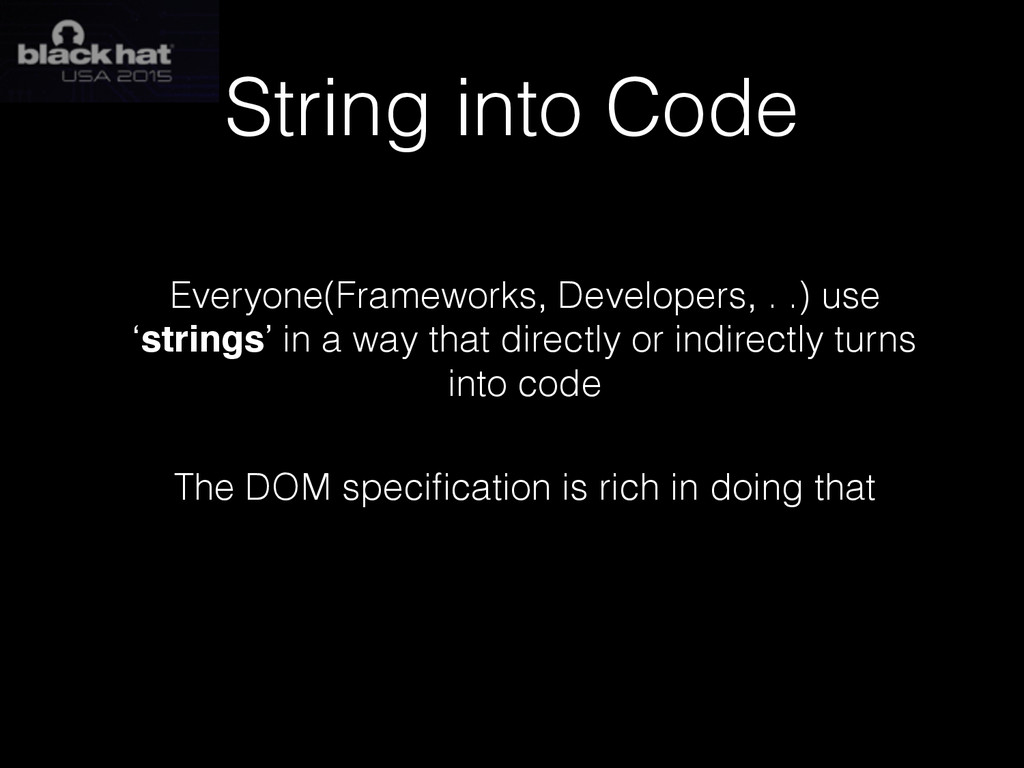 String into Code Everyone(Frameworks, Developer...