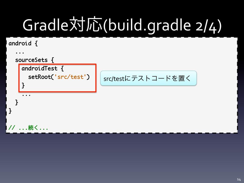 GradleରԠ(build.gradle 2/4) 14  android {...