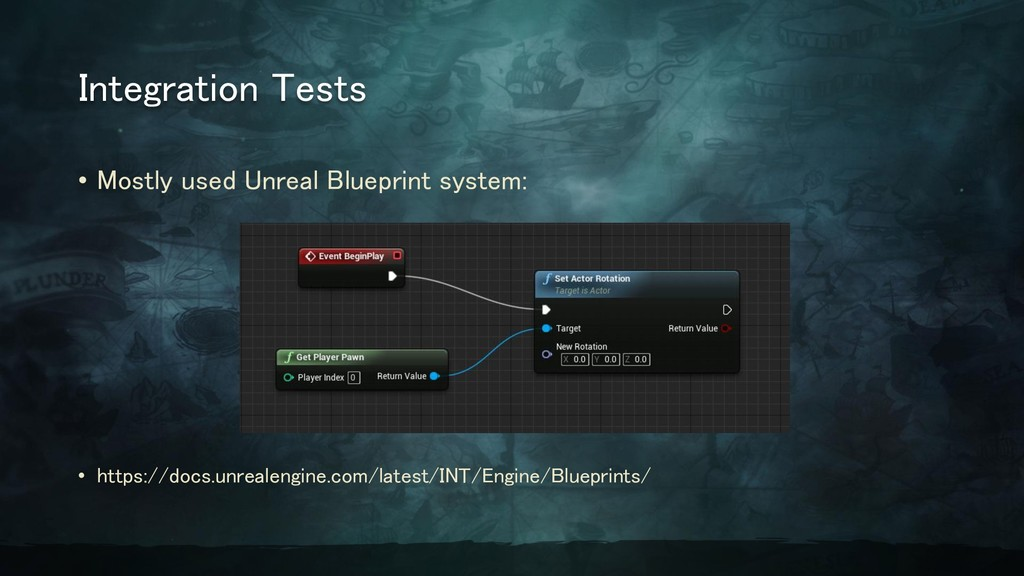 Integration Tests • Mostly used Unreal Blueprin...