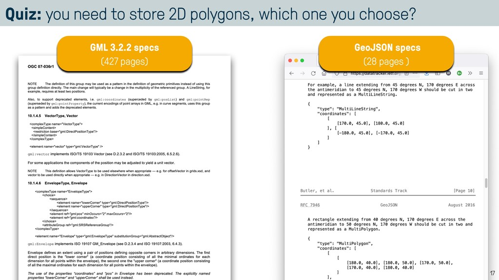 Quiz: you need to store 2D polygons, which one ...