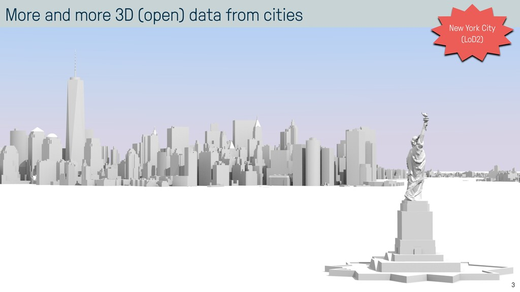 More and more 3D (open) data from cities 3 New ...