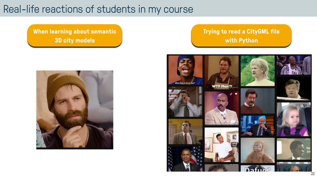 Real-life reactions of students in my course 22...