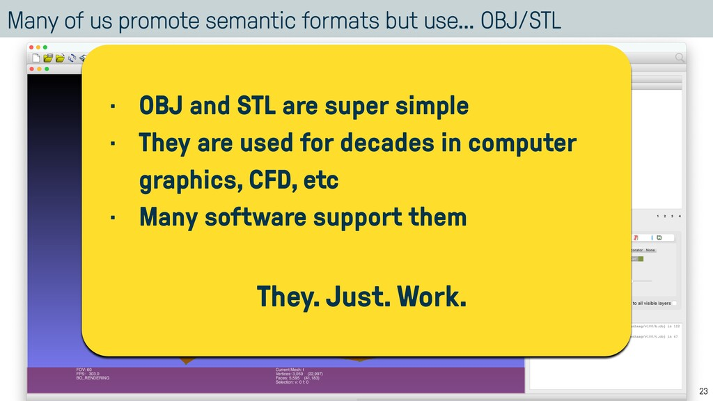 Many of us promote semantic formats but use… OB...