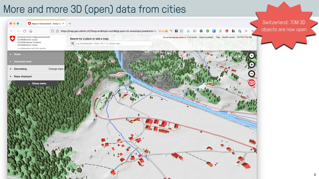 More and more 3D (open) data from cities 4 Swit...
