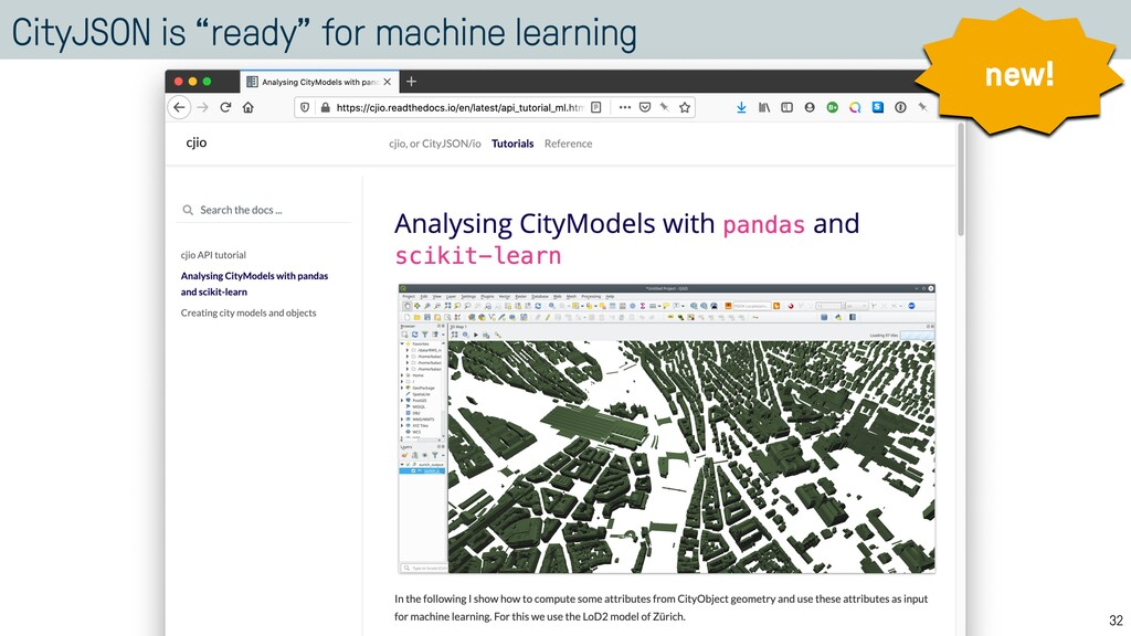"""CityJSON is """"ready"""" for machine learning 32 new!"""