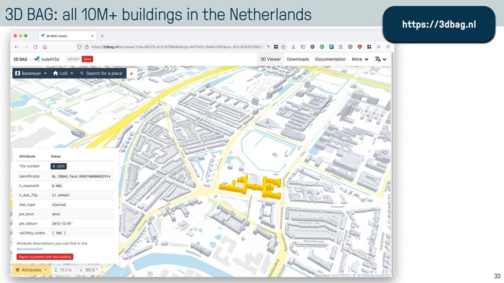 3D BAG: all 10M+ buildings in the Netherlands 3...