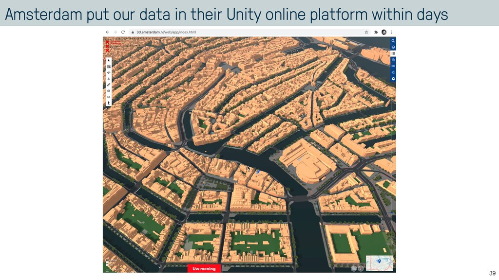 Amsterdam put our data in their Unity online pl...