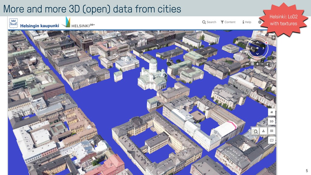 More and more 3D (open) data from cities 5 Hels...