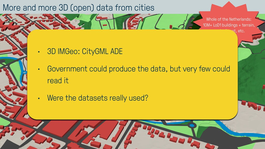 More and more 3D (open) data from cities 10 Who...