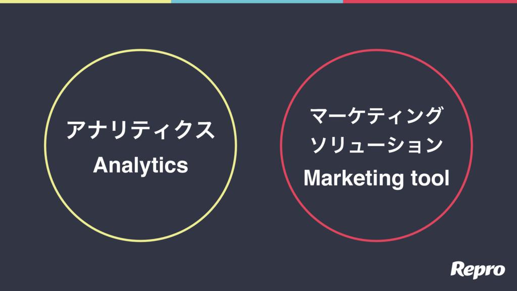 ΞφϦςΟΫε Analytics ϚʔέςΟϯά ιϦϡʔγϣϯ Marketing tool