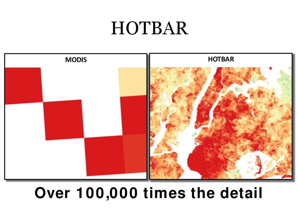 HOTBAR MODIS HOTBAR Over 100,000 times the deta...