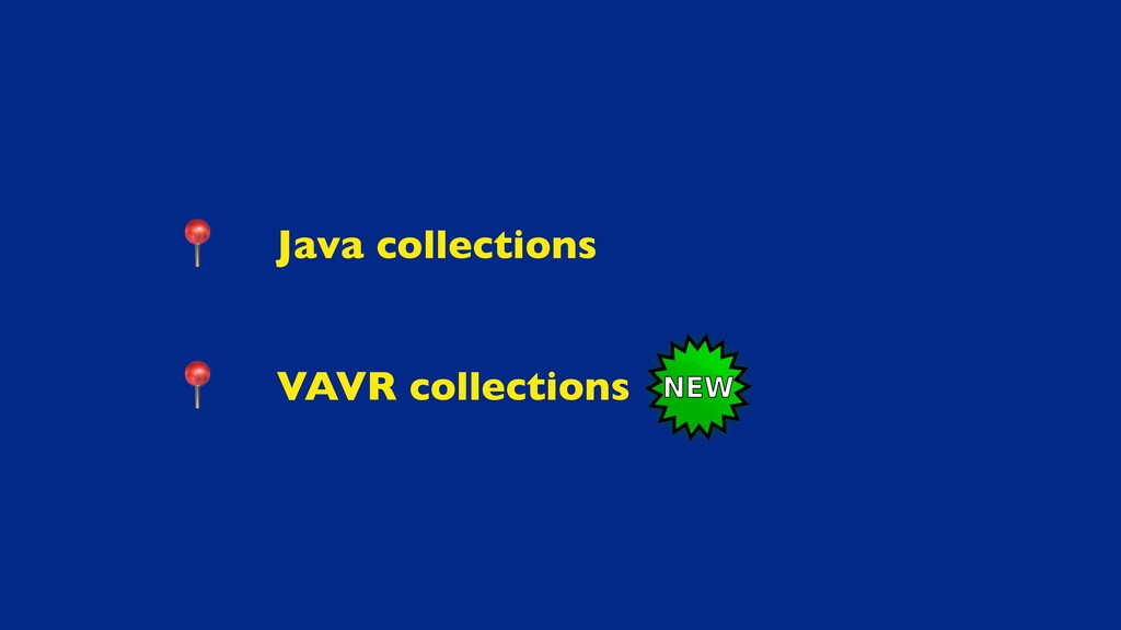 Java collection s  VAVR collections