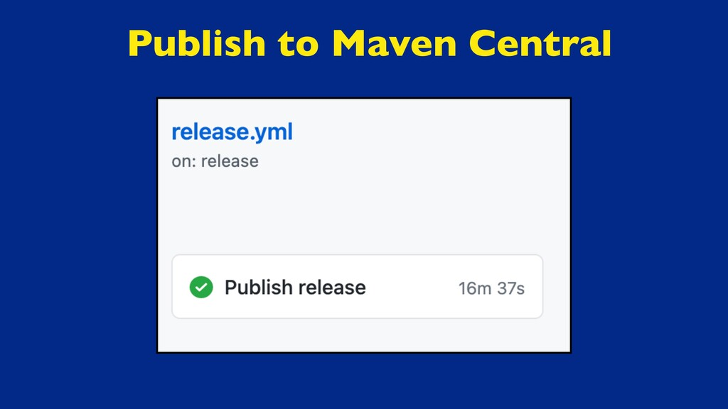 Publish to Maven Central