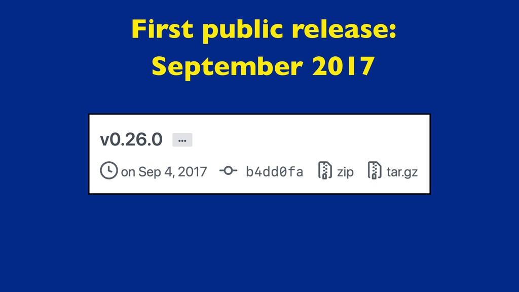 First public release :  September 2017