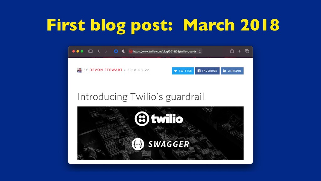 First blog post: March 2018